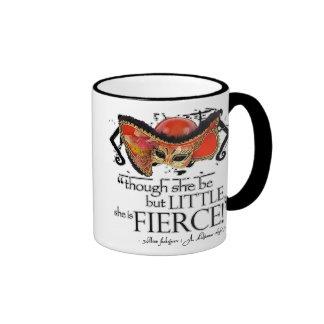Shakespeare Midsummer Night's Dream Fierce Quote Ringer Mug