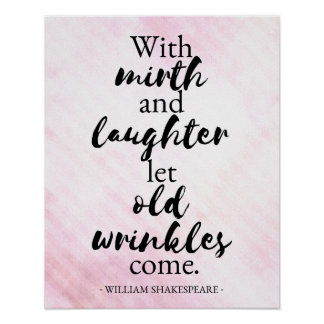 Shakespeare - Mirth and laughter poster