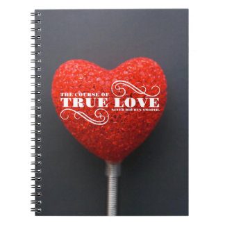 "Shakespeare Notebook: ""The Course Of True Love"" Spiral Note Book"