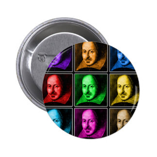 Shakespeare Pop Art 2 Inch Round Button