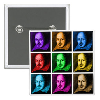 Shakespeare Pop Art 2 Inch Square Button