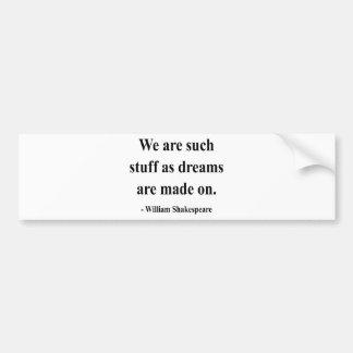 Shakespeare Quote 2a Bumper Sticker