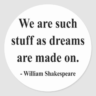 Shakespeare Quote 2a Classic Round Sticker