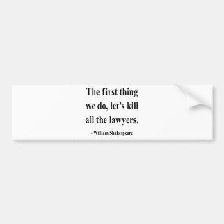 Shakespeare Quote 4a Bumper Sticker