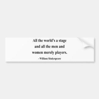 Shakespeare Quote 5a Bumper Sticker