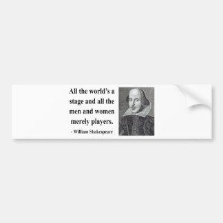Shakespeare Quote 5b Bumper Sticker