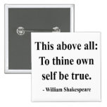 Shakespeare Quote 8a Pinback Buttons