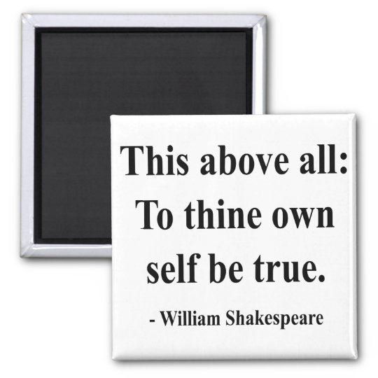 Shakespeare Quote 8a Square Magnet