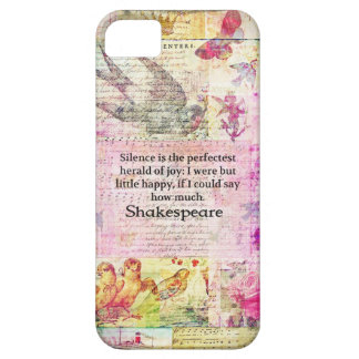 Shakespeare quote about JOY and SILENCE iPhone 5 Cover
