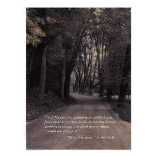 Shakespeare Quote: Bend in the Buffalo Road Poster