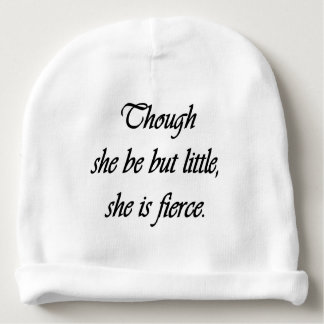Shakespeare Quote for Girl Baby Beanie