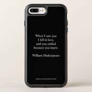 Shakespeare Quote - I Fell In Love OtterBox Symmetry iPhone 8 Plus/7 Plus Case