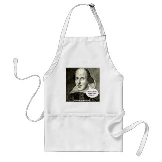 Shakespeare-quote; If music be the food of love, p Standard Apron