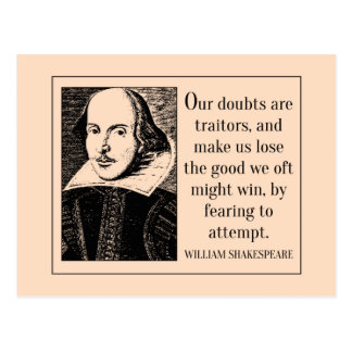 Shakespeare Quote on Doubt Postcard