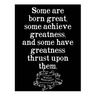 Shakespeare Quote on Greatness Postcard
