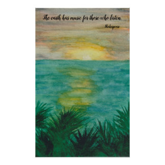 Shakespeare Quote on Landscape Poster