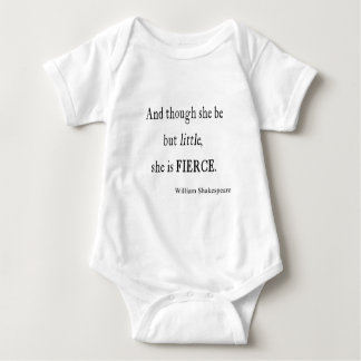 Shakespeare Quote She Be Little But Fierce Quotes Baby Bodysuit