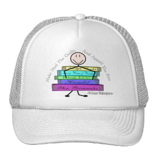 Shakespeare Quote Stick People Design Trucker Hat