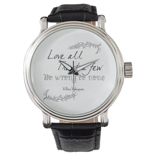 Shakespeare Quote Wristwatches
