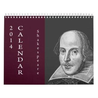 Shakespeare Quotes.  2014 Wall Calendar