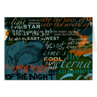 Shakespeare Quotes Love Poetry Dark Card