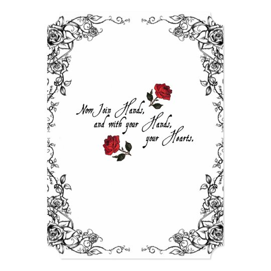 Shakespeare Red Roses Wedding Invitation