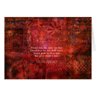 Shakespeare romantic  LOVE quotation Card