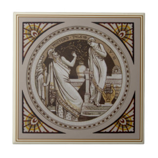 "Shakespeare""s Winter's Tale Antique Repro Minton Tile"