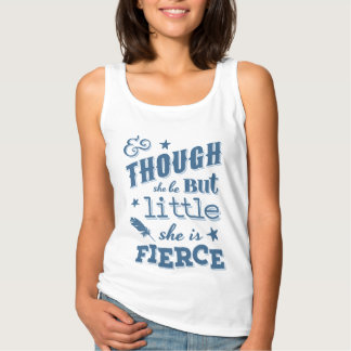 Shakespeare She is Fierce Typography Quote Tank Top