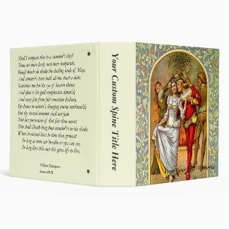 Shakespeare Sonnet # 18 3 Ring Binders