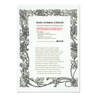Shakespeare Sonnet # 18 Custom Invitations