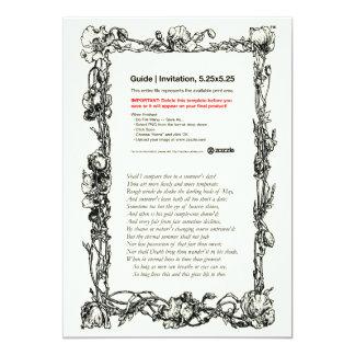 Shakespeare Sonnet # 18 5x7 Paper Invitation Card