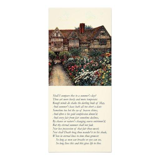 Shakespeare Sonnet # 18 Invitation