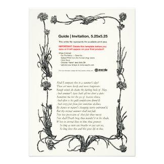 Shakespeare Sonnet 18 Personalized Invitation