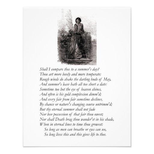 Shakespeare Sonnet # 18 Custom Invites