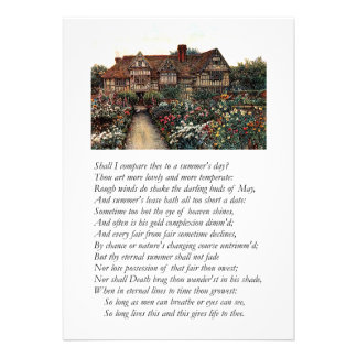 Shakespeare Sonnet 18 Announcements