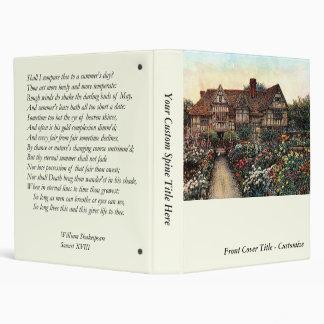 Shakespeare Sonnet # 18 Vinyl Binders