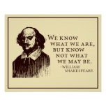 Shakespeare 'what we may be' quote poster
