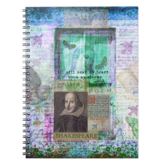 Shakespeare whimsical LOVE quote Spiral Note Books