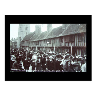 Shakespeare's Birthday 1907, Stratford-upon-Avon Postcard