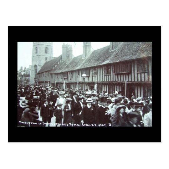 Shakespeare's Birthday 1907, Stratford-upon-Avon Postcard