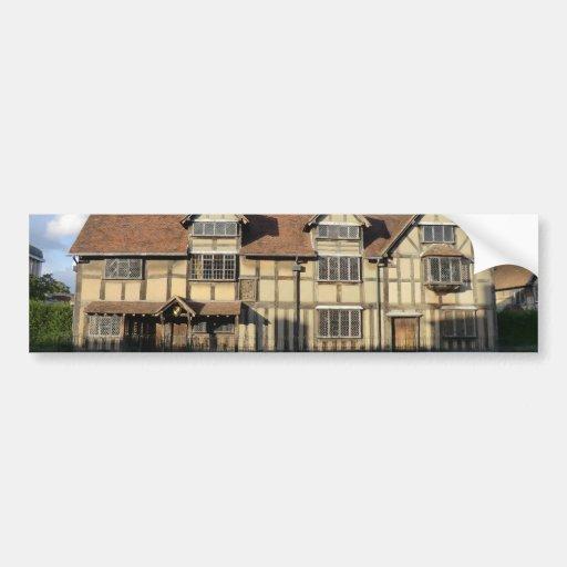 Shakespeare's Birthplace in Stratford Upon Avon Bumper Sticker