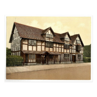 Shakespeare's birthplace, Stratford-on-Avon, Engla Postcard