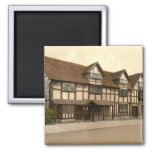 Shakespeare's Birthplace, Stratford-upon-Avon, UK Square Magnet