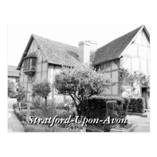 Shakespeare's birthplace Stratford vintage Postcard