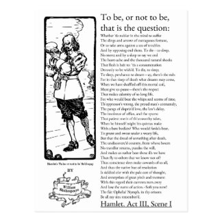 Shakespeare's Hamlet 'To be, or not to' Speech Postcard
