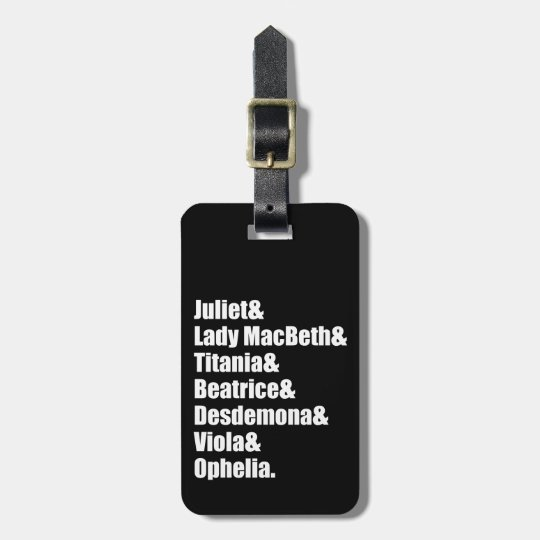 Shakespeare's Ladies Luggage Tag