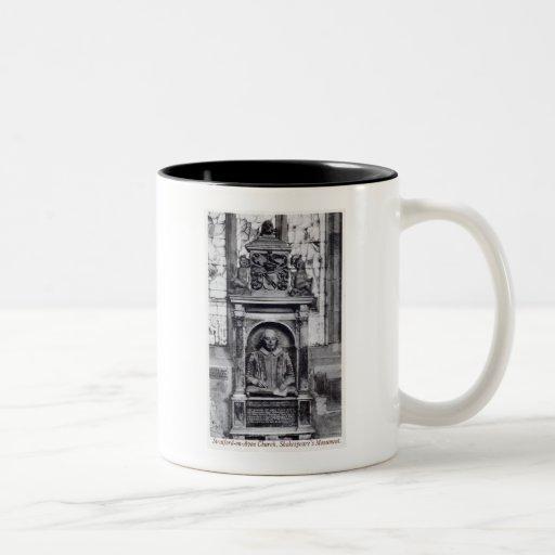 Shakespeare's Monument, Stratford-on-Avon Church V Coffee Mug