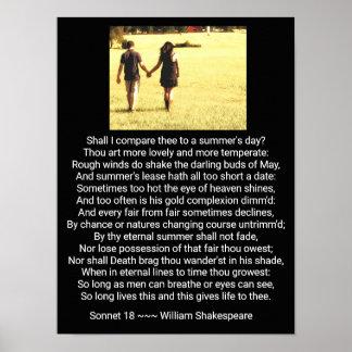 Shakespeare's Sonnet 18 - Art Print