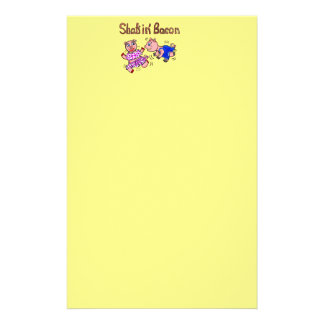 Shakin' Bacon Pigs Stationery Paper